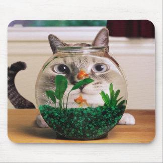 Fishbowl Cat Mouse Pad