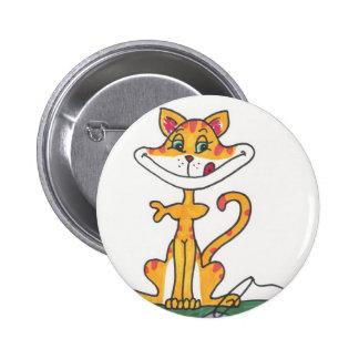 Fishbowl Cat Pinback Button