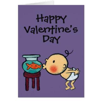 Fishbowl Kisses Orange Goldfish Card