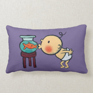 Fishbowl Kisses Orange Goldfish Lumbar Pillow
