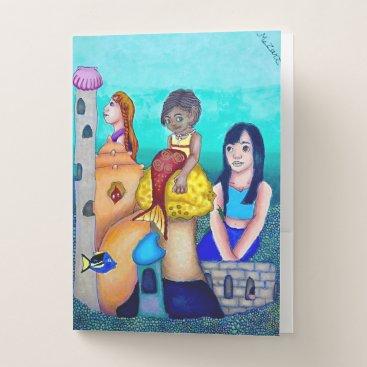 Beach Themed Fishbowl Paradise folders