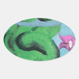 FishBowl Pegatina De Oval