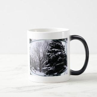 Fishbowl Snowscape Image Magic Mug