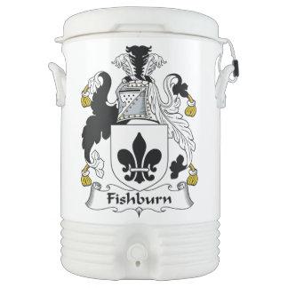 Fishburn Family Crest Igloo Beverage Dispenser