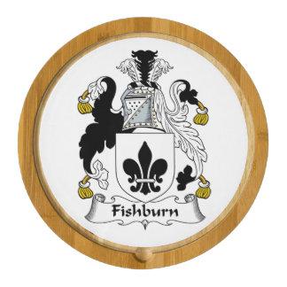 Fishburn Family Crest Round Cheeseboard