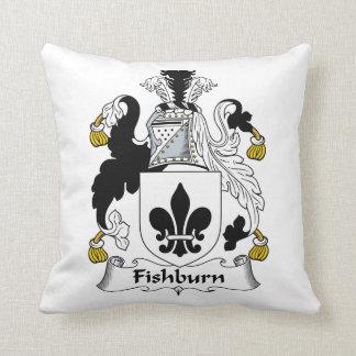 Fishburn Family Crest Throw Pillow