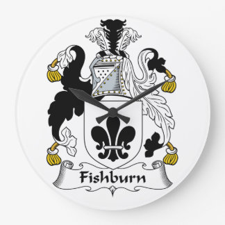 Fishburn Family Crest Wall Clocks
