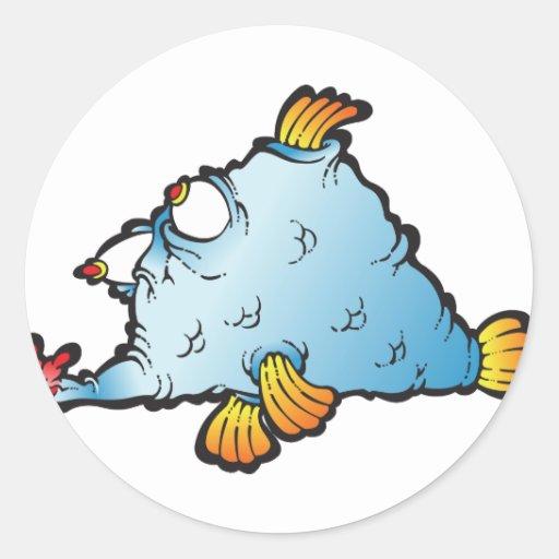 Fishee Fishee Pegatina Redonda