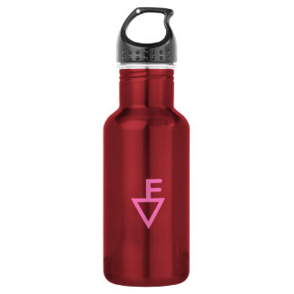 Fisher Adventure Club-Pink logo Stainless Steel Water Bottle