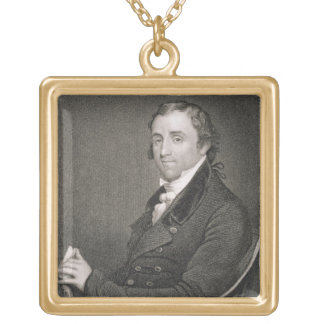 Fisher Ames, engraved by John Francis Eugene Prud' Gold Plated Necklace