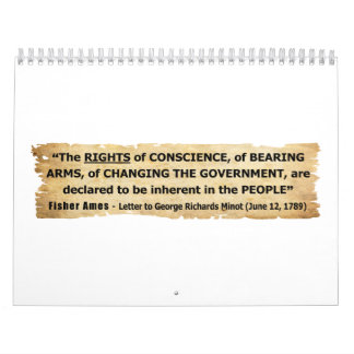Fisher Ames Quote Rights of the People Calendar