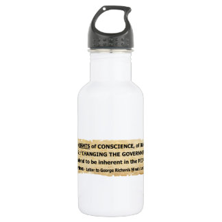 Fisher Ames Quote Rights of the People 18oz Water Bottle