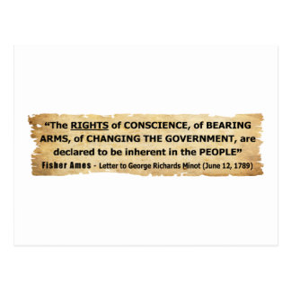 Fisher Ames Quote Rights of the People Postcard