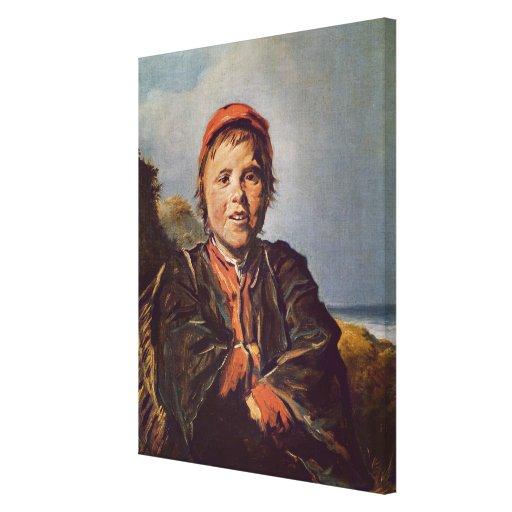 Fisher boy canvas print