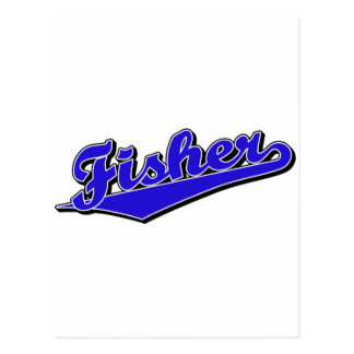 Fisher en azul tarjeta postal