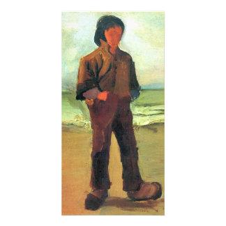 Fisher en la orilla de Vincent van Gogh Tarjeta Fotografica
