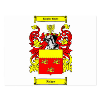 Fisher (English) Coat of Arms Postcard