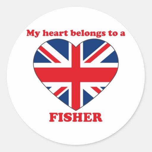 Fisher Etiquetas Redondas