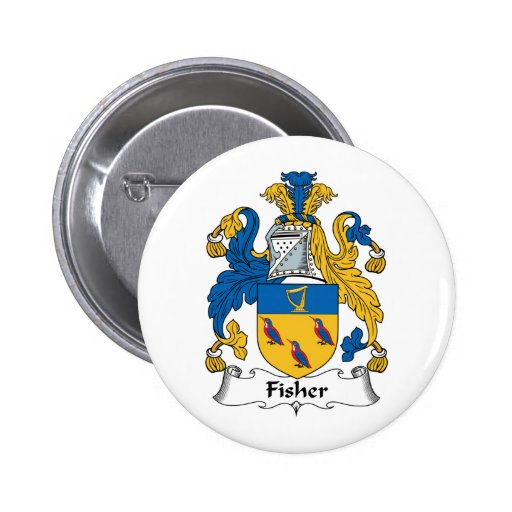 Fisher Family Crest Button