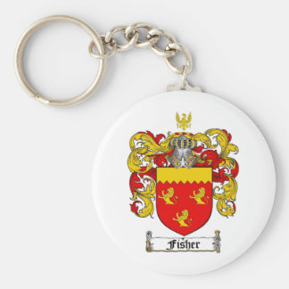 FISHER FAMILY CREST -  FISHER COAT OF ARMS KEYCHAIN
