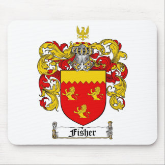 FISHER FAMILY CREST -  FISHER COAT OF ARMS MOUSE PAD