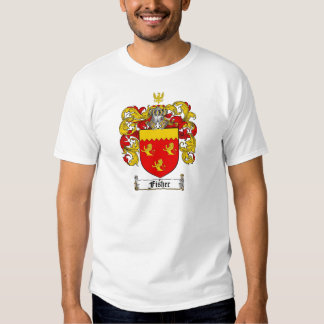 FISHER FAMILY CREST -  FISHER COAT OF ARMS TEE SHIRT
