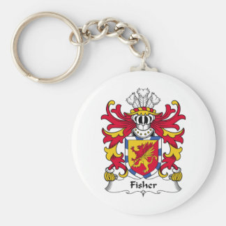 Fisher Family Crest Keychain