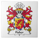 Fisher Family Crest Large Square Tile