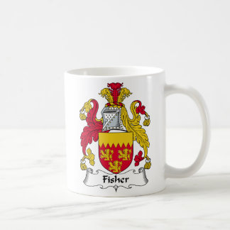 Fisher Family Crest Classic White Coffee Mug