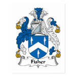 Fisher Family Crest Post Card