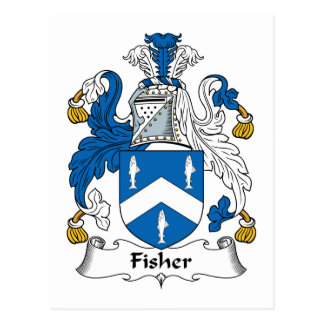 Fisher Family Crest Postcard