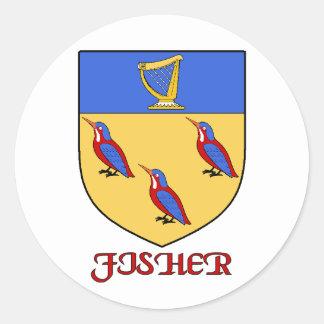 Fisher Family Shield Sticker
