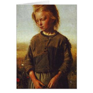 Fisher girl, 1874 card