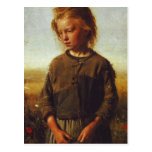 Fisher girl, 1874 postcard