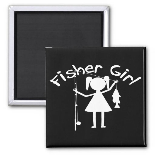 FISHER GIRL 2 INCH SQUARE MAGNET