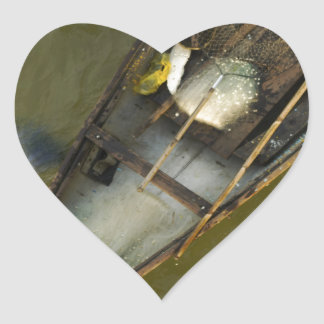 Fisher in Asia from above Heart Sticker