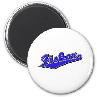Fisher in Blue 2 Inch Round Magnet
