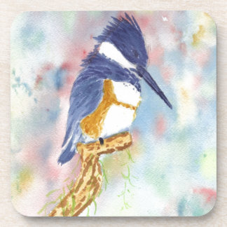 Fisher King Kingfisher watercolor Beverage Coasters
