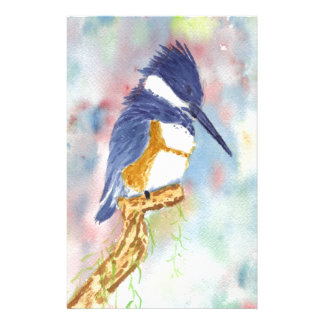 Fisher King, Kingfisher watercolor Stationery Design