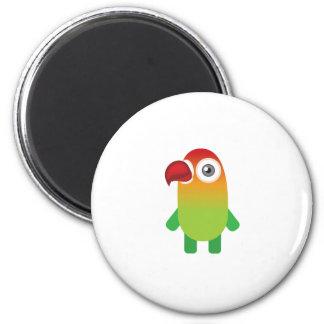 Fisher Lover Bird - My Conservation Park 2 Inch Round Magnet