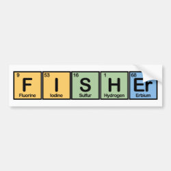 Bumper Sticker with Fisher design