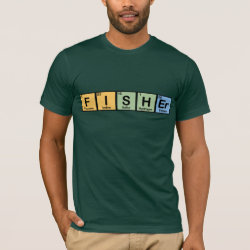 Men's Basic American Apparel T-Shirt with Fisher design