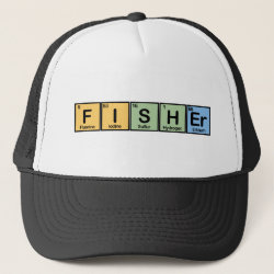 Trucker Hat with Fisher design
