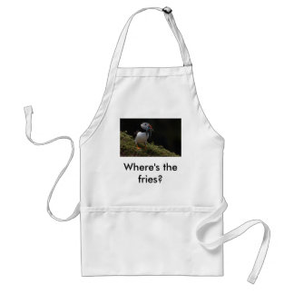 Fisher Puffin, Where's the fries? Adult Apron