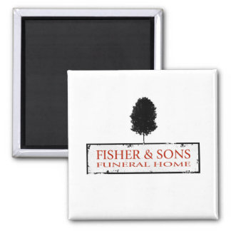 Fisher & Sons Funeral Home 2 Inch Square Magnet