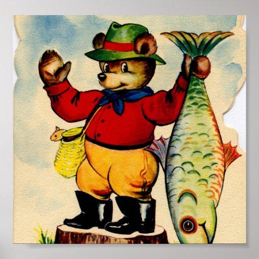 Fisherbear con su captura del día impresiones
