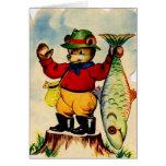 Fisherbear con su captura del día tarjetas
