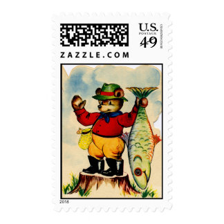 Fisherbear with his Catch of the Day Stamp