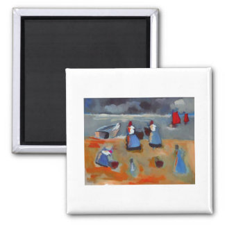 FISHERGIRLS 2 INCH SQUARE MAGNET
