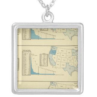 Fisheries Square Pendant Necklace